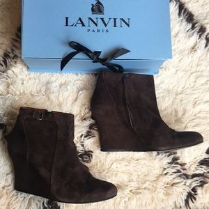 Lanvin suede ankle booties